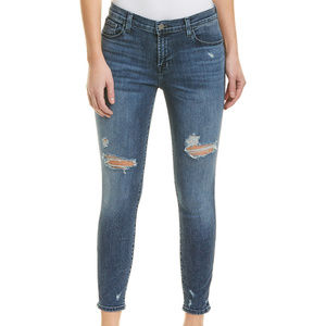 J Brand 835 Mid-Rise Cropped Skinny In Moonstruck
